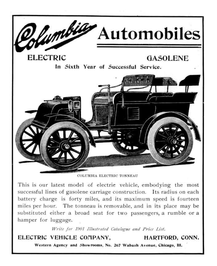 Columbia Automobiles, electric car, ev