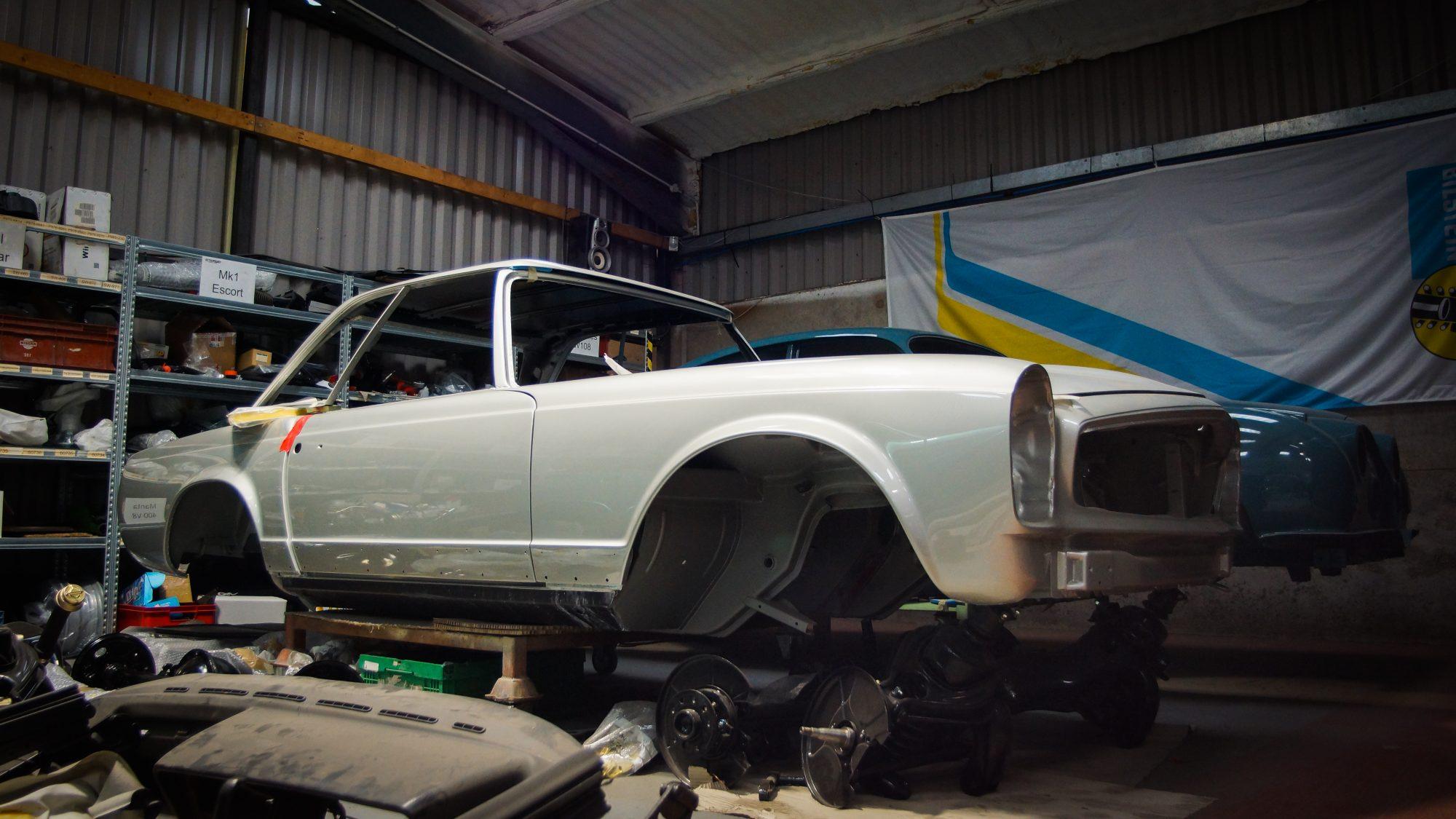 mercedes, mercedes-benz, sl pagoda, car restoration, retropower