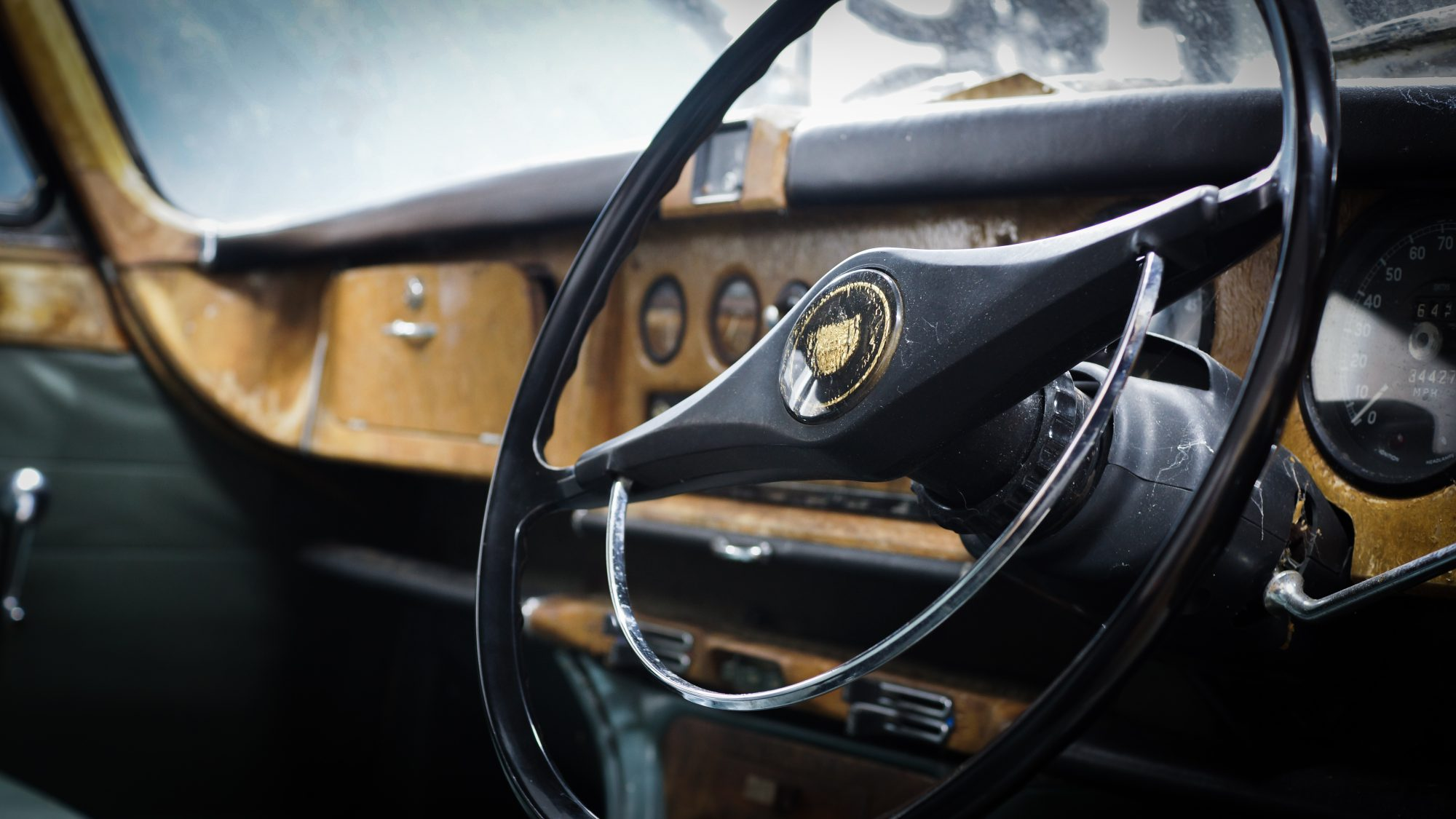 Jaguar, Jaguar 420G, 420G, The Krays, Ronnie and Reggie Kray, steering wheel