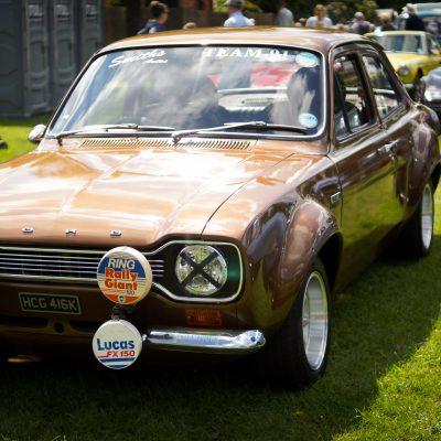 Wallingford, Wallingford vehicle rally, classic car, car meet, car event, Ford Escort
