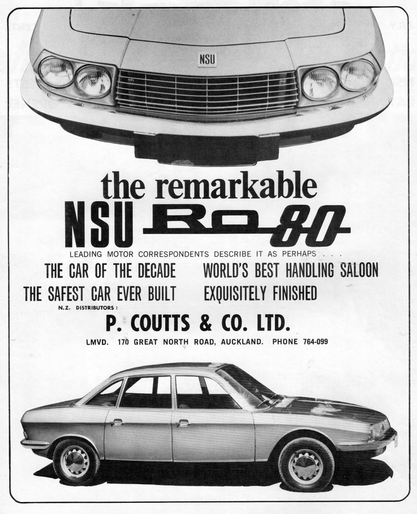 NSU, NSU Ro80, Rotary, Wankel, Auto Union, Ro80 advert