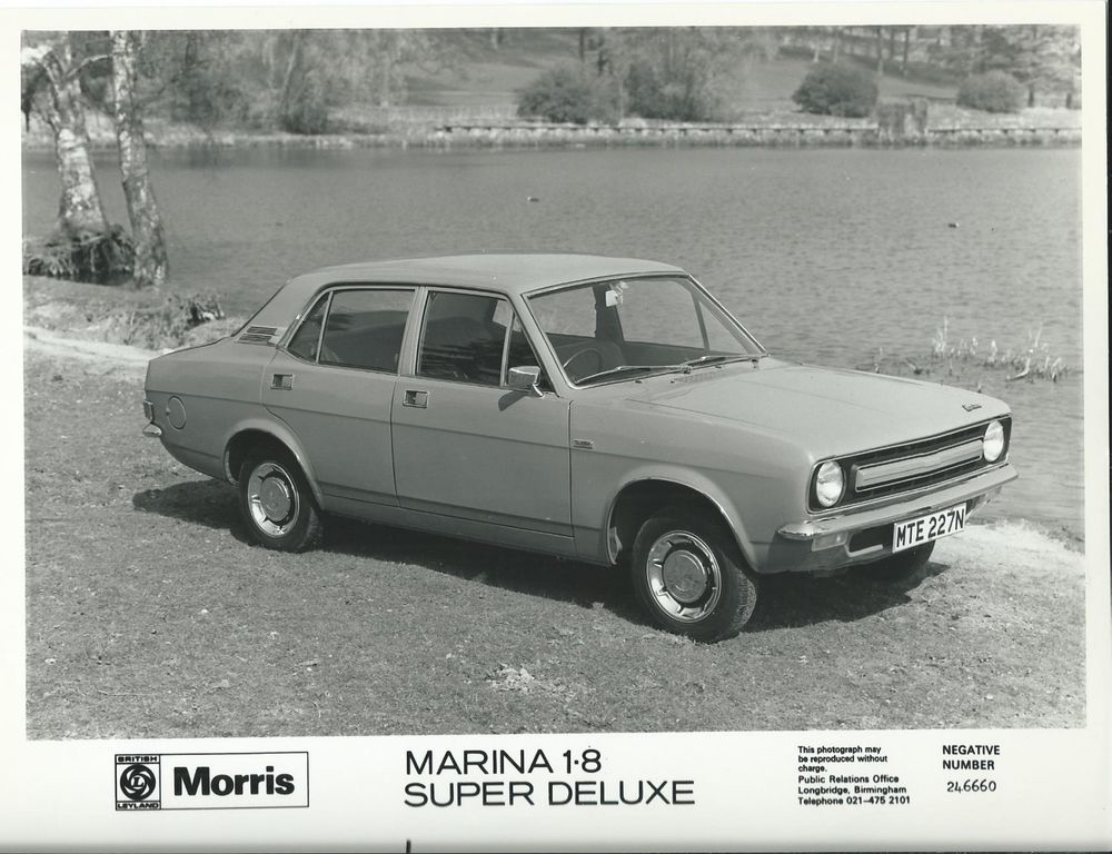Morris Marina, Morris, Marina, British Leyland, press image