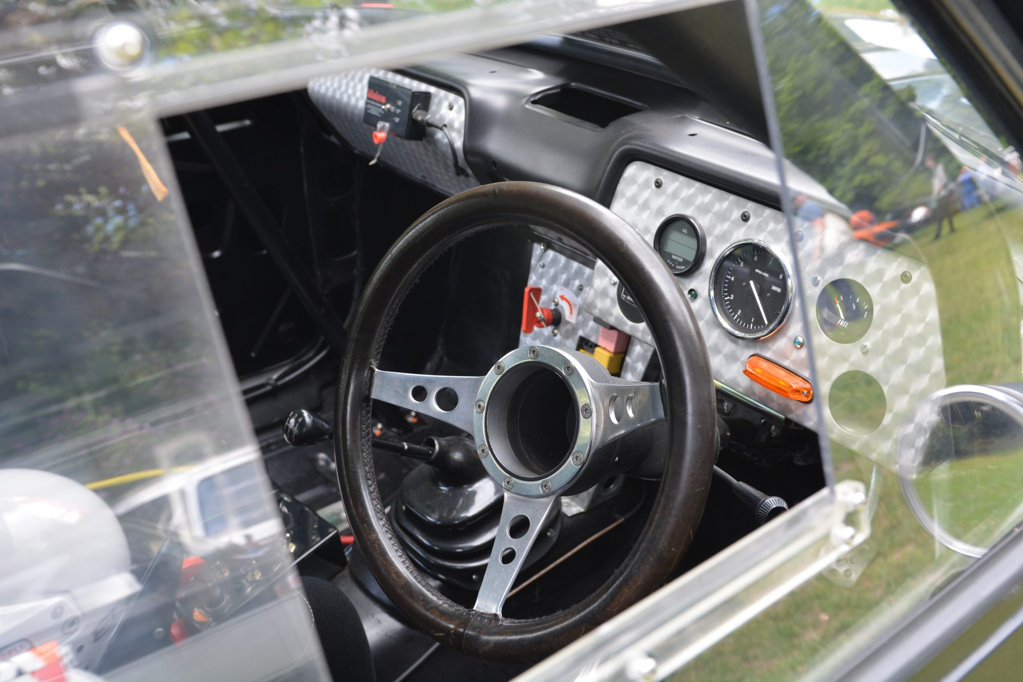 Motorsport, Motorsport at the Palace, Crystal Palace, London car show, classic car, show, classic motorsport, TR6, Vauxhall Viva GT interior